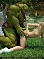 Lustful pharaoh woman and her angry huge monster torturing hard a smoking hot blondie during their egyptian punishment