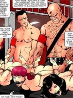 Cartoon woman naked bondage machines