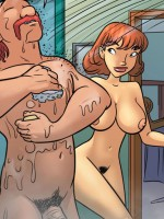 Perfect tits cartoon redhead beauty doesn't mind being doublepentrated by huge dicks.