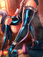 Awesome hentai comics with boobilicious babes all in sperm