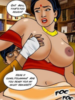 Slutty gets banged by a student in the library