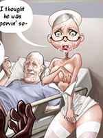 Dirty porn comics about slutty nurse and her fucking work