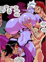 Sinbad, proteus, marina and eris enjoy cool fucking in awesome porn comics