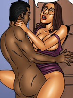 Xxx interracial cartoon porn pics of blonde busty chick likes her sweet pussy drilled by huge black prick.